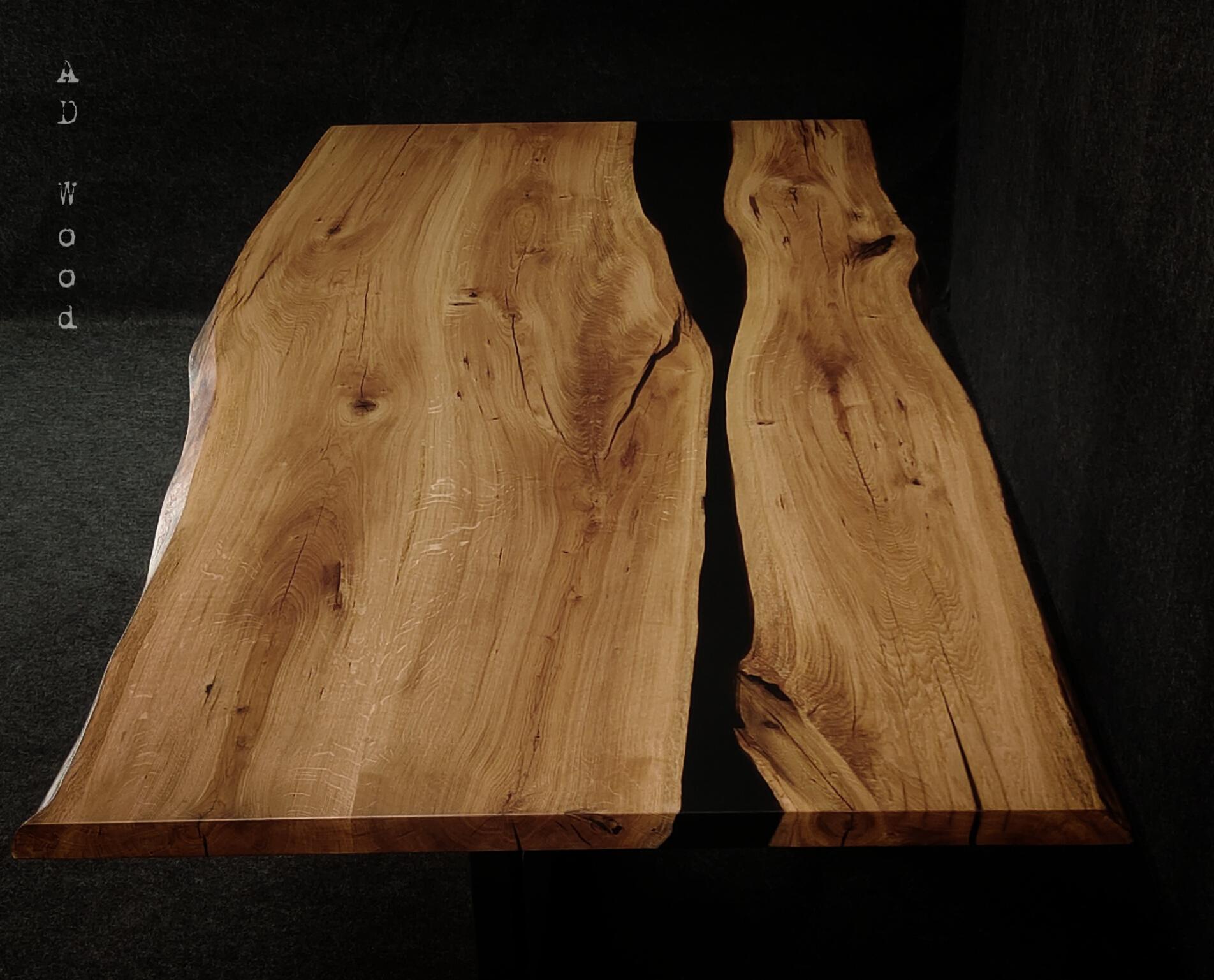 Stół dębowy z żywicą - Woodstock